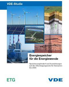 """Bild von VDE-Studie """"Energiespeicher für die Energiewende"""""""