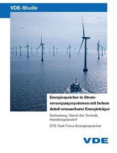 """Bild von VDE-Studie """"Energiespeicher in Stromversorgungssystemen mit hohem Anteil erneuerbarer Energieträger"""""""