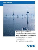 """Bild von VDE-Studie """"Energiespeicher in Stromversorgungssystemen mit hohem Anteil erneuerbarer Energieträger"""" - Kurzfassung (Download)"""