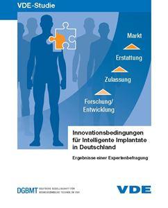 """Bild von VDE-Studie """"Innovationsbedingungen für Intelligente Implantate in Deutschland"""" (Download)"""