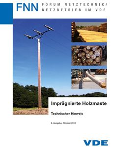 Bild von Imprägnierte Holzmaste (FNN-Hinweis, Download)