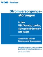 Bild von VDE-Analyse Stromversorgungsstörungen in den USA/Kanada, London, Schweden/Dänemark und Italien (Download)
