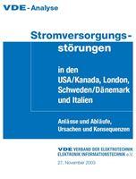 Bild von VDE-Analyse Stromversorgungsstörungen in den USA/Kanada, London, Schweden/Dänemark und Italien (Print)