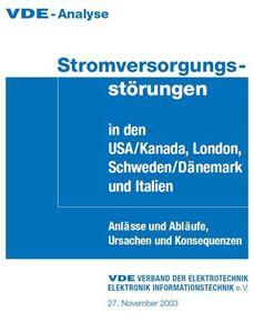 Bild von VDE-Analyse Stromversorgungsstörungen in den USA/Kanada, London, Schweden/Dänemark und Italien