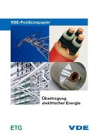 """Bild von VDE-Positionspapier """"Übertragung elektrischer Energie"""" (Print)"""