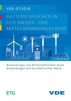 """Bild von VDE-Studie """"Batteriespeicher in der Nieder- und Mittelspannungsebene"""" (Print)"""