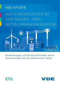 """Bild von VDE-Studie """"Batteriespeicher in der Nieder- und Mittelspannungsebene"""""""