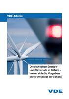 """Bild von VDE-Studie """"Die deutschen Energie- und Klimaziele in Gefahr"""" - Kurzfassung (Print)"""