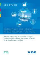 """Bild von VDE-Studie """"Potenziale für Strom im Wärmemarkt bis 2050"""" (Print)"""