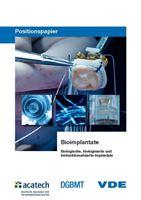 """Bild von Positionspapier """"Bioimplantate - biologische, biologisierte und biofunktionalisierte Implantate"""" (Print)"""