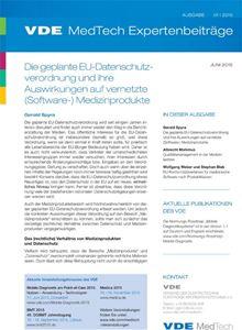 Bild von VDE MedTech Expertenbeiträge 01-2015 (Download)