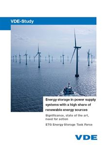 "Bild von VDE-Study ""Energy storage in power supply systems with a high share of renewable energy sources"" (Print)"