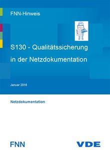 Bild von FNN-Hinweis: S130 - Qualitätssicherung in der Netzdokumentation (Download)
