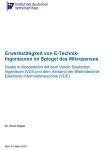 Bild von Erwerbstätigkeit von E-Technik-Ingenieuren im Spiegel des Mikrozensus (Download)