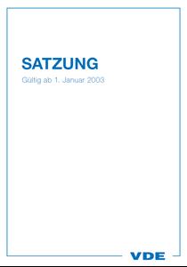 Bild von VDE-Satzung (Download)