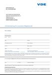 Bild von VDE Aufnahmeantrag für Korporative Mitglieder / Unternehmen