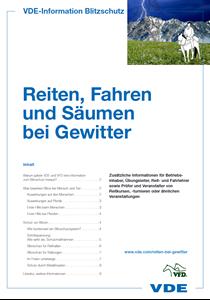 Bild von Reiten, Fahren und Säumen bei Gewitter (Broschüre, Download)