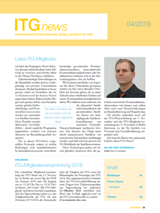 Bild von ITG-News 04/2018 - NewSpace Communications