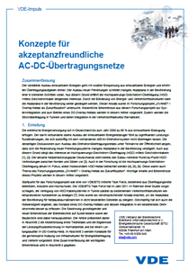 Bild von VDE-Impuls Konzepte für akzeptanzfreundliche AC-DC-Übertragungsnetze (Download)