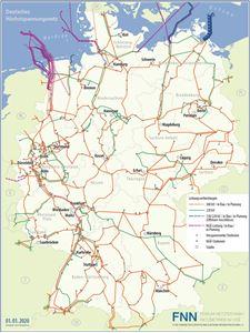 Picture of Deutsches Höchstspannungsnetz - Wandkarte/Karte (Print)