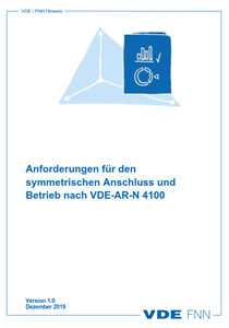 """Bild von FNN-Hinweis """"Anforderungen für den symmetrischen Anschluss und Betrieb nach VDE-AR-N 4100"""" (Download)"""