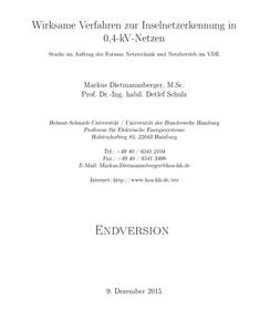 Picture of Studie Inselnetzerkennung