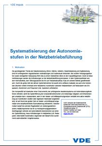 Bild von VDE Impuls Systematisierung der Autonomiestufen in der Netzbetriebsführung (Download)