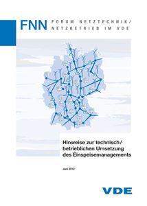 Picture of FNN Hinweis zur technisch/betrieblichen Umsetzung des Einspeisemanagements inkl. Merkblatt