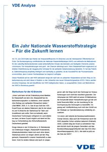 Bild von VDE Analyse Nationale Wasserstoffstrategie (Download)